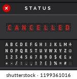 mechanical flip board timetable ... | Shutterstock .eps vector #1199361016
