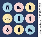 set of 9 casual filled icons... | Shutterstock .eps vector #1199361673