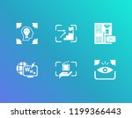 creative process icon set and... | Shutterstock .eps vector #1199366443