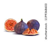 fresh  nutritious  tasty figs.... | Shutterstock .eps vector #1199368603