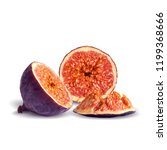 fresh  nutritious  tasty figs.... | Shutterstock .eps vector #1199368666