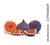 fresh  nutritious  tasty figs.... | Shutterstock .eps vector #1199368669