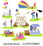 autumn wine festival  a set of... | Shutterstock .eps vector #1199370889
