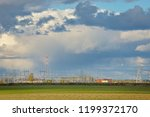 power distribution station on... | Shutterstock . vector #1199372170