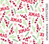 christmas seamless pattern with ... | Shutterstock .eps vector #1199375260