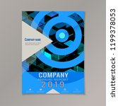 company annual report 2019 with ... | Shutterstock .eps vector #1199378053