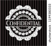 confidential silver emblem or... | Shutterstock .eps vector #1199380333