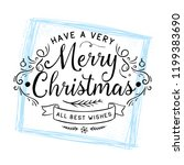merry christmas. typography.... | Shutterstock .eps vector #1199383690