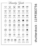laundry guide vector icons ...   Shutterstock .eps vector #1199383756