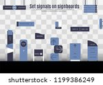 a set of signboards for... | Shutterstock .eps vector #1199386249