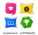 graduation icons. graduation...   Shutterstock .eps vector #1199386690