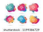 get extra 25  off sale.... | Shutterstock .eps vector #1199386729