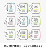 infographic template with... | Shutterstock .eps vector #1199386816