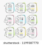 infographic template with... | Shutterstock .eps vector #1199387770