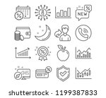 set of chart  cashback and... | Shutterstock .eps vector #1199387833