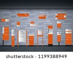 a set of signboards for... | Shutterstock .eps vector #1199388949