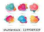 dynamic liquid shapes. set of...   Shutterstock .eps vector #1199389339
