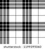black and white tartan plaid...   Shutterstock .eps vector #1199395060