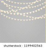 christmas lights isolated... | Shutterstock .eps vector #1199402563