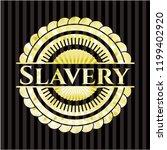 slavery gold emblem or badge | Shutterstock .eps vector #1199402920