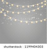 christmas lights isolated... | Shutterstock .eps vector #1199404303
