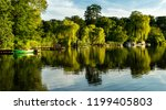 the ziegelsee in the owl mirror ... | Shutterstock . vector #1199405803