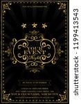 luxury art deco anniversary...   Shutterstock .eps vector #1199413543