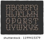 font set with noisy textured... | Shutterstock .eps vector #1199415379