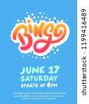 bingo night. poster template.   Shutterstock .eps vector #1199416489