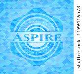 aspire sky blue emblem with... | Shutterstock .eps vector #1199416573