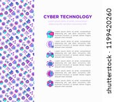 cyber technology concept with... | Shutterstock .eps vector #1199420260