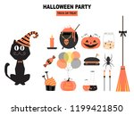 set of characters  for... | Shutterstock .eps vector #1199421850