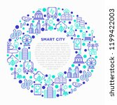 smart city concept in circle... | Shutterstock .eps vector #1199422003