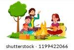 happy family with children... | Shutterstock .eps vector #1199422066