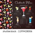 bar menu design. template for... | Shutterstock .eps vector #1199428006
