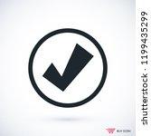 confirm icon  stock vector...   Shutterstock .eps vector #1199435299