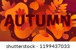 horizontal abstract geometric... | Shutterstock .eps vector #1199437033