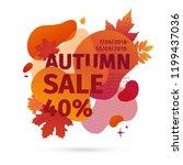 template design discount banner ... | Shutterstock .eps vector #1199437036