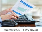 accounting. | Shutterstock . vector #119943763