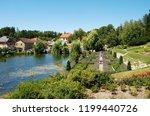 gardens around nov  hrady... | Shutterstock . vector #1199440726