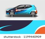 company branding car decal wrap ... | Shutterstock .eps vector #1199440909