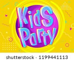 kids party vector illustration... | Shutterstock .eps vector #1199441113