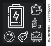 set of 6 concept outline icons... | Shutterstock .eps vector #1199443099