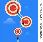 businessman constantly climbing ... | Shutterstock .eps vector #1199443276