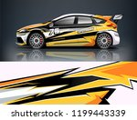 racing car wrap design. sedan... | Shutterstock .eps vector #1199443339