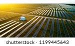 solar photovoltaic panels in... | Shutterstock . vector #1199445643