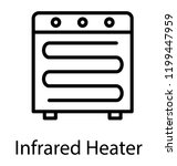 portable infrared heater with... | Shutterstock .eps vector #1199447959