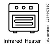 portable infrared heater with... | Shutterstock .eps vector #1199447980