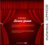 red curtain | Shutterstock .eps vector #119945230