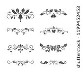 set of decorative christmas...   Shutterstock .eps vector #1199452453